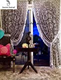 Indian Mandala Tapestry Gypsy Home Decor Window Treatments & Panel Set Bohemian Curtain Room Divider Blackout Balcony Sheer Wall Hanging Tapestry Curtain Indian Drapes Curtain (20) Review