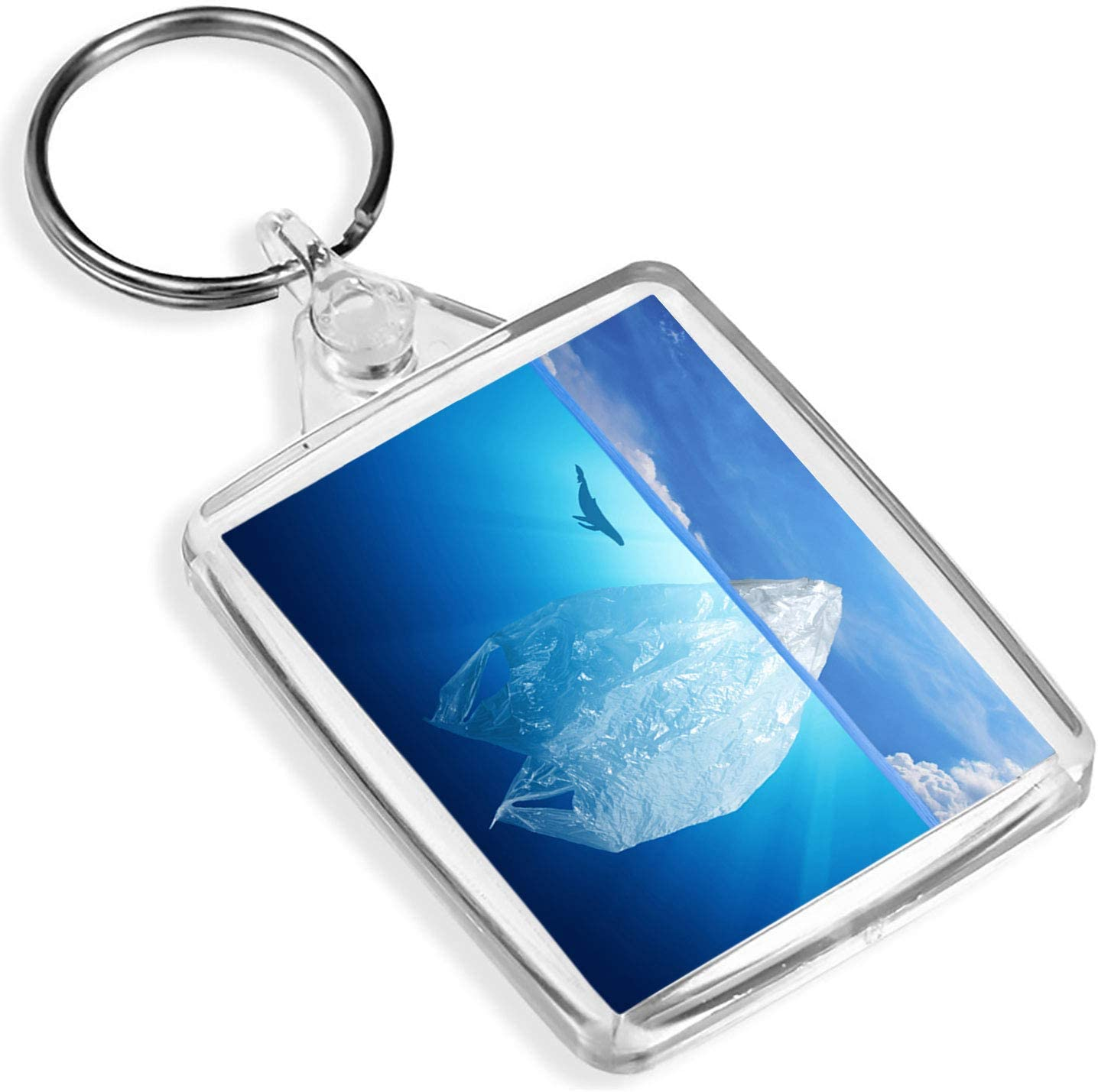 Destination Vinyl Keyrings 1 x Bolsa de plástico Iceberg Pollution Sea Save – Llavero – IP02 – Regalo para mamá papá niños # 3571