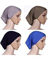 Ksweet 4 pièce Sport Hijab Bonnets Femme Musulman Écharpe Islamic Turban  Foulard Cyclisme