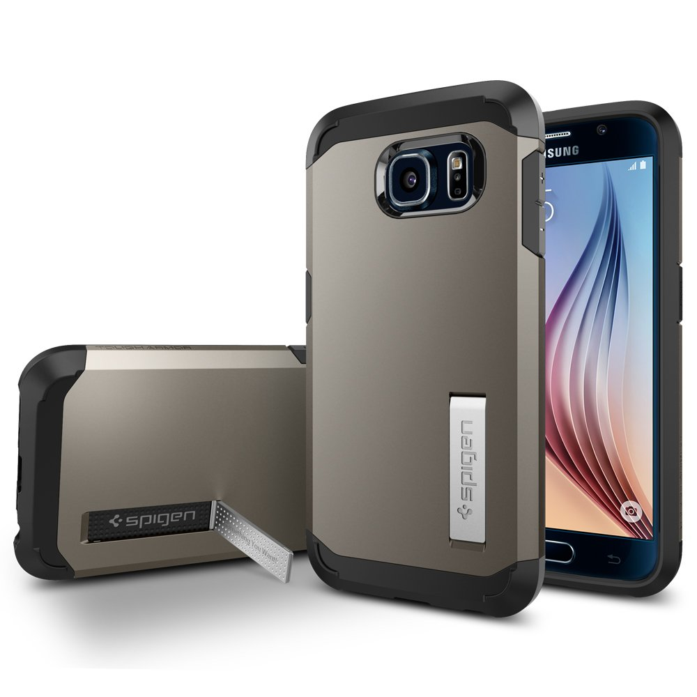 superior quality 0f014 38f22 Spigen Tough Armor Designed for Galaxy S6 Case (2015) - Gunmetal