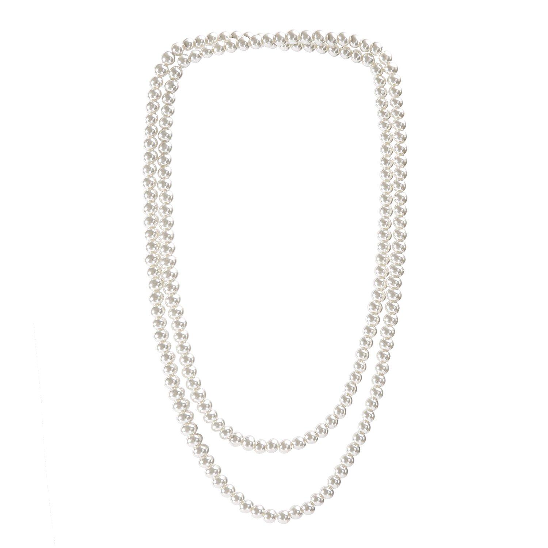Metme 1920er Jahre Great Gatsby Zubeh/ör Set Flapper Stirnband Perlenkette Stretch-Armband /…