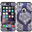 iPhone 6s plus Case, MagicSky [Shock Absorption] Hybrid Dual Layer Armor Defender Protective Case Cover for iPhone 6 plus(2014) / 6s plus(2015) - Black/Flower2
