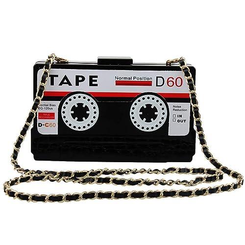 LETODE Women s Elegant Tape Shaped Shoulder Bag Vintage Style Clutch  Handbag Acrylic Bag Evening Bag ( 3d0c8e61d2e7