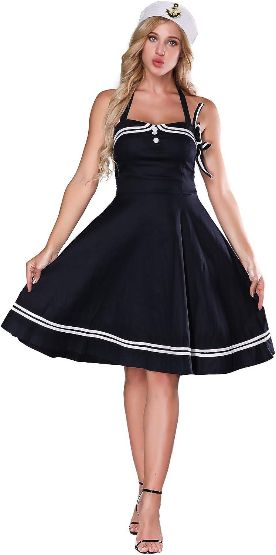 Bodysocks® Women/'s Retro Sailor Costume Female Navy Fancy Dress Hen