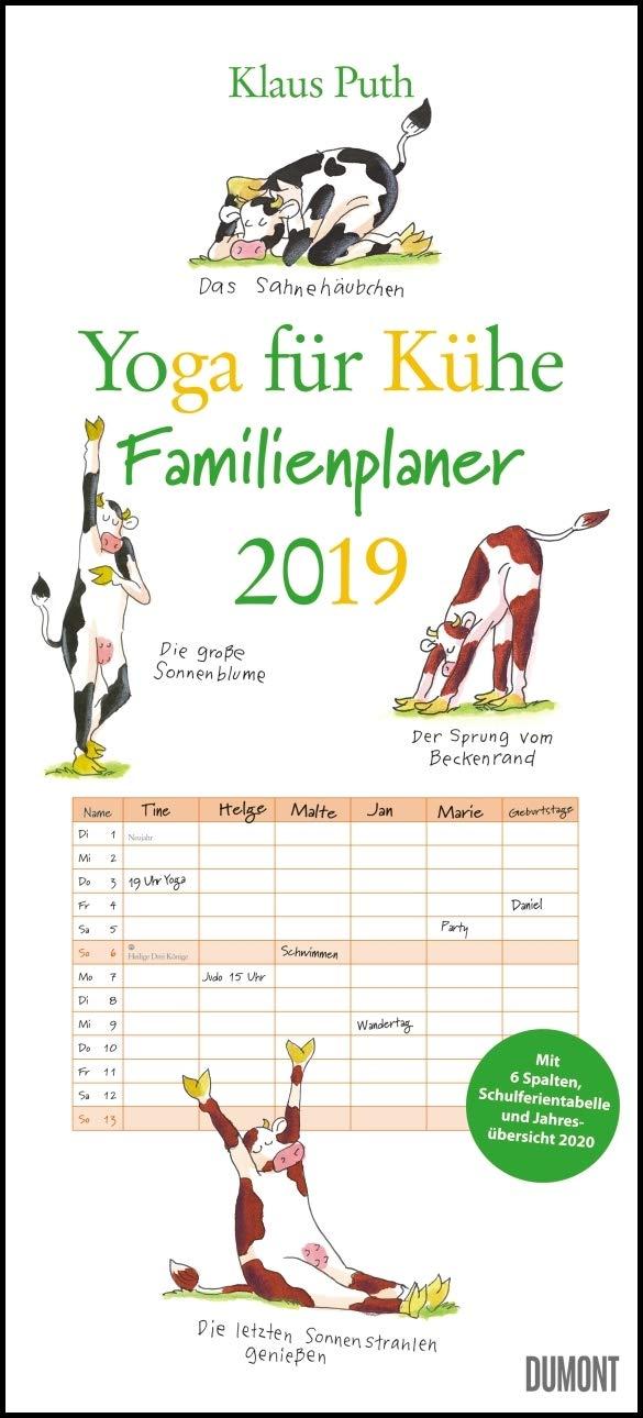 Yoga für Kühe Familienkalender 2019: Familienplaner 6 ...