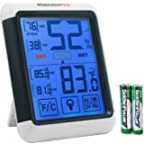 ThermoPro TP55 Digital Hygrometer Thermometer with Jumbo Touchscreen and Backlight, Indoor Temperature Humidity Monitor with Humidity Gauge Temperature Meter