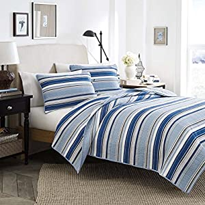 Stone Cottage Fresno Cotton Quilt Set, Full/Queen, Blue