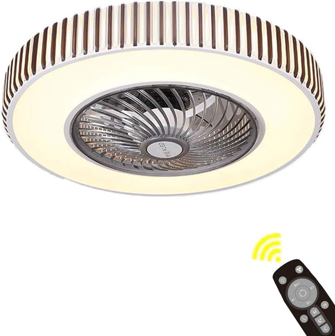 La Luz del Ventilador del Techo del, Φ50cm Ajuste de Luz de 3 Colores Invisible Luz de Ventilador con Control Remoto para La Lámpara del Dormitorio de Nursery, Sala de Estar,A