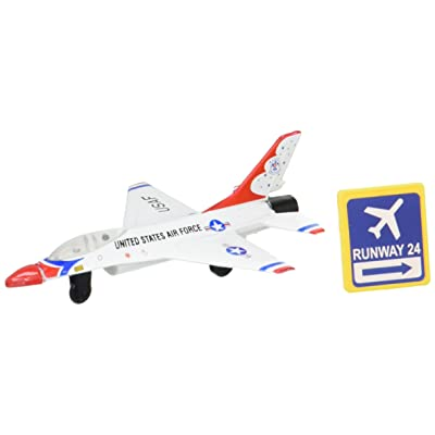 Daron Worldwide Trading Runway24 F-16 Thunderbird No Runway Vehicle: Toys & Games