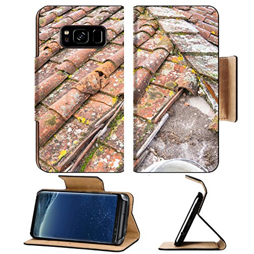 Tuscan Roof Tile (MSD Premium Samsung Galaxy S8 Plus Flip Pu Leather Wallet Case Tuscan clay roof tiles Image ID 24755031)