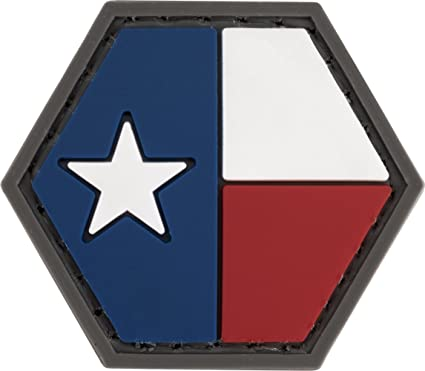 Evike Operator Profile PVC Hex Patch State Flag Series Texas 68490