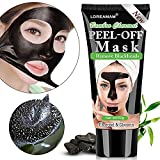 #1: Blackhead Remover Mask,Black Mask,Charcoal Face Mask,Purifying Peel-off Mask with Activated Charcoal Deep Pore Cleanse for Acne