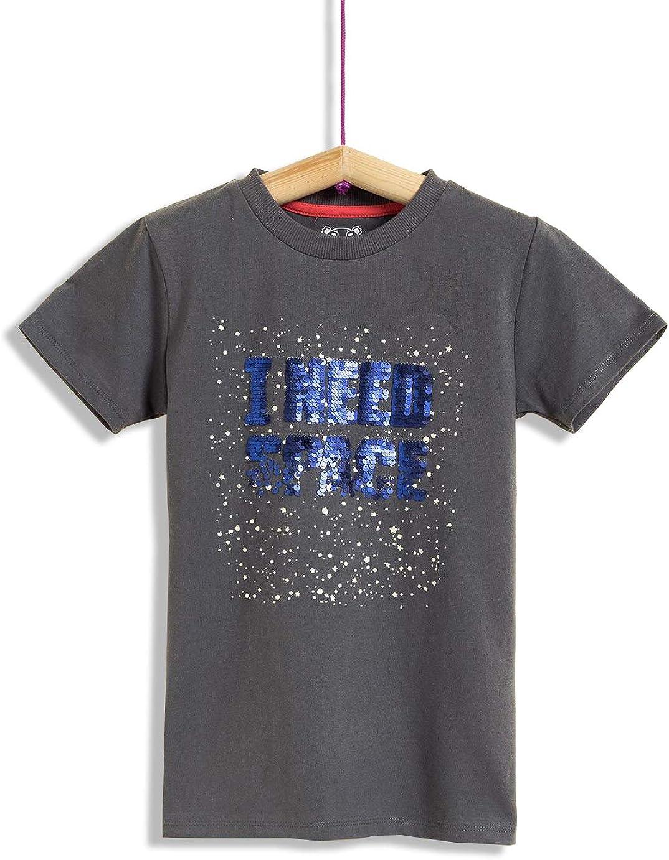 Camiseta de Manga Corta para niño con Lentejuelas Reversibles.: Amazon.es: Ropa y accesorios