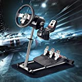 Pro Racing Wheel Simulator Stand - for Logitech G29/G920 & G25/G27 - Adjustable 360°Stepless Racing Wheel Stand Without Wheel and Pedals