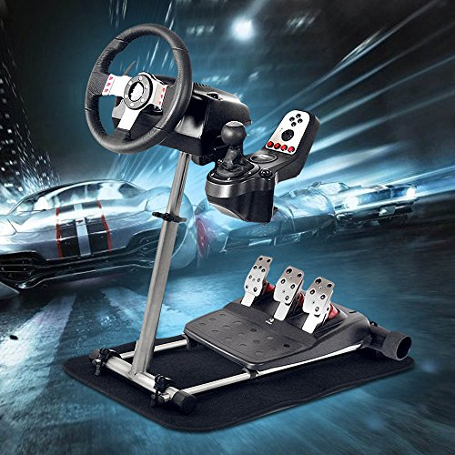 (Pro Racing Wheel Simulator Stand for Logitech G29/G920 & G25/G27 - Adjustable 360°Stepless Racing Wheel Stand Without Wheel and Pedals)