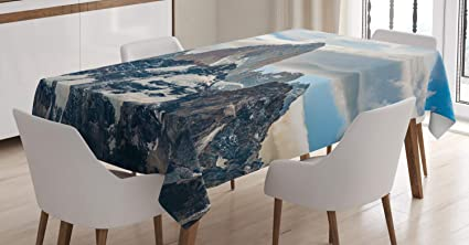 Amazing Amazon Com Lunarable Argentina Tablecloth Patagonian Andes Best Image Libraries Sapebelowcountryjoecom