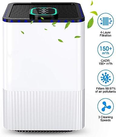 Purificador de Aire para hogar con filtración de 4 Capas y función ...