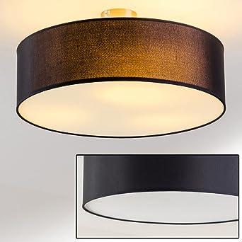 Plafonnier design Foggia avec abat-jour noir diamètre 50 cm: Amazon ...