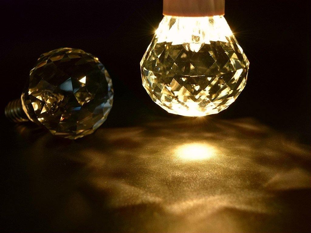 Led Leuchtmittel Für Kronleuchter ~ Purelume led crystal globe lampe w e kristall leuchtmittel