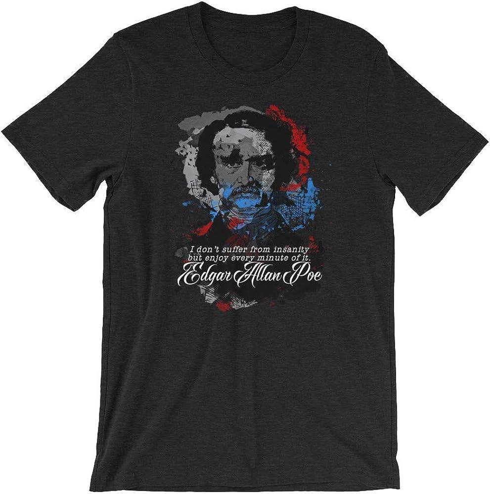 SleeplessLady Edgar Allan Poe Short-Sleeve Unisex T-Shirt Fan Art