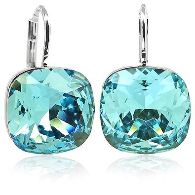 92a5dd637b8c nobel-schmuck Mujer chapado en plata cojín azul Crystal  Amazon.es  Joyería