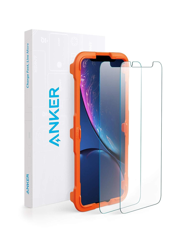 【改善版】【2枚セット / 専用フレーム付属】Anker GlassGuard iPhone XR用