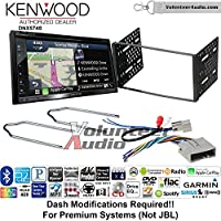 Volunteer Audio Kenwood DNX574S Double Din Radio Install Kit with GPS Navigation Apple CarPlay Android Auto Fits 2003-2011 Crown Victoria, 2005-2007 Escape