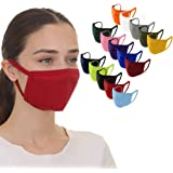 15PC Unisex Adult Solid Color Washable Double Face Cotton Bandanas Suitable indoor family and outdoor travel (15, H)