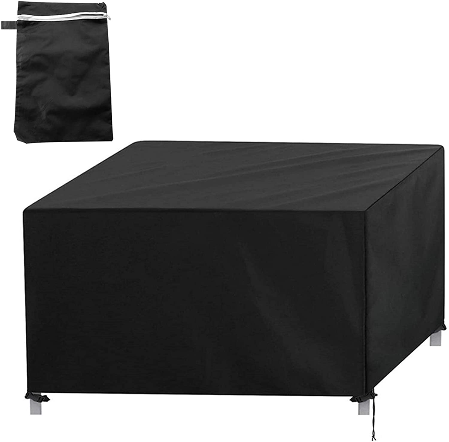 YSISLY Garden Furniture Cover, Outdoor Table Cover 420D Oxford Fabric Waterproof Anti-UV Patio Protectors Patio Table Cover, Windproof Anti-Uv Furniture Protection (87 × 87 × 77cm)
