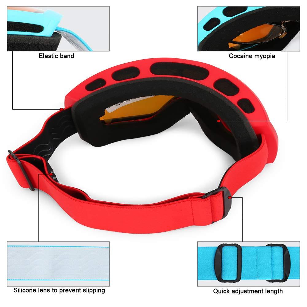 XIAOHE Skibrillen Snowboardbrillen, beschlagfrei und Winddicht, Winddicht, Winddicht, 100% UV400 UV-Besteändige Brillengläser, geeignet für Damen und Herren B07MJ1HW3B Skibrillen Produktqualität 439f4b