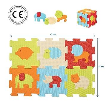 Ludi Puzzle Géant Pour Léveil De Bébé 9 Petites Dalles Aux