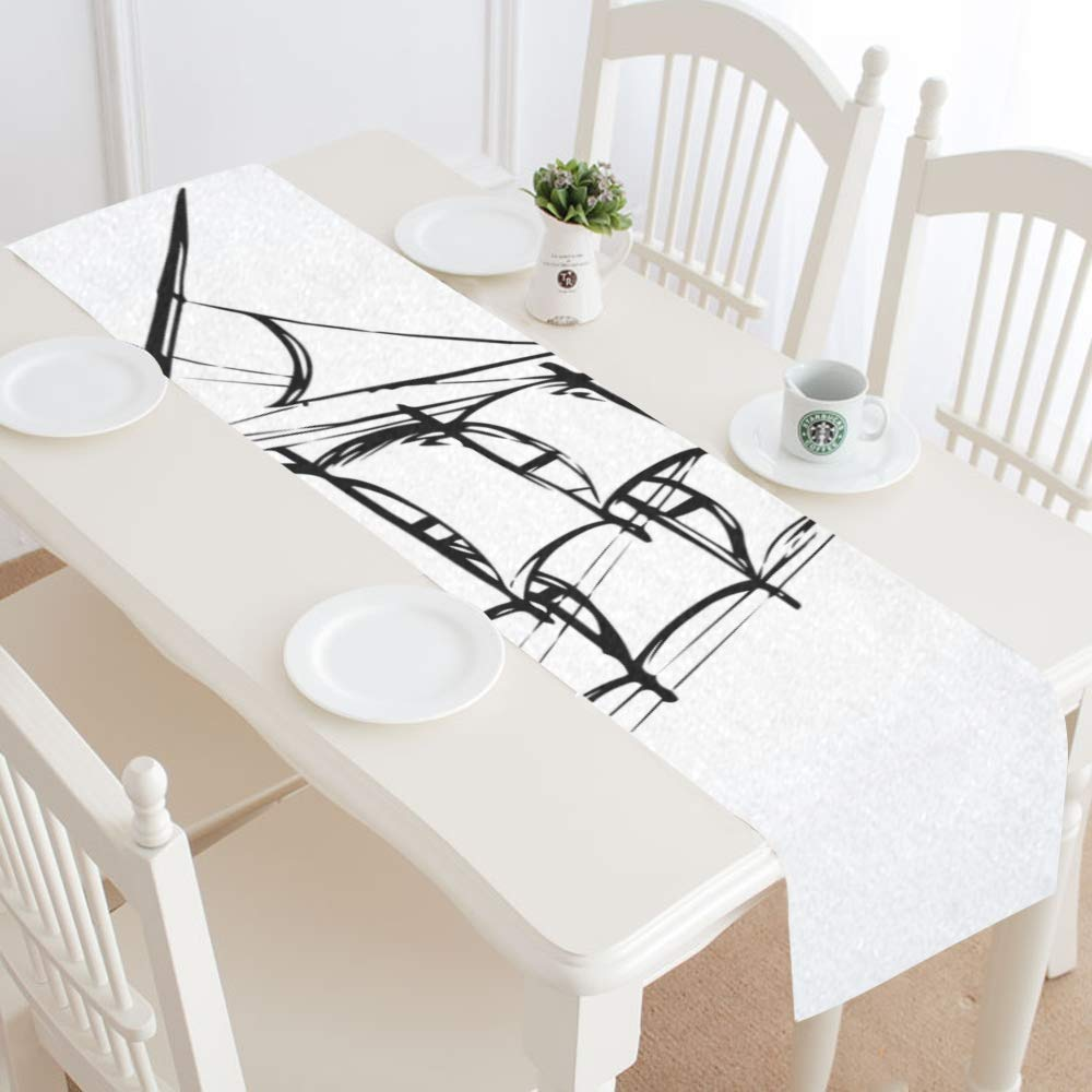Amazon.com: Dining Room Table Runner Wooden Classic Tall ...