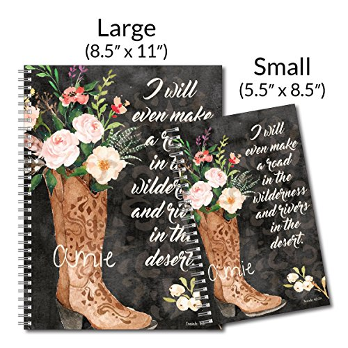 What I Will Make Personalized Religious Spiral Notebook/Journal, 120 College Ruled or Checklist Pages, durable laminated cover, and wire-o spiral. 8.5x11 | 5.5x8.5 | Made in the USA Photo #4