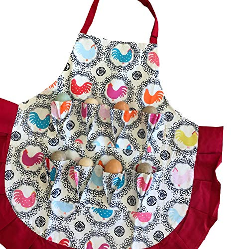 - Fluffy Layers-The Egg Collecting Apron. (Kids) Gather Eggs from Your Chickens