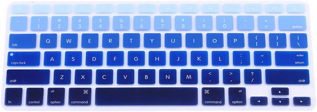 1pc Rainbow Silicone Keyboard Case Cover Skin Protector for MacBook Pro 13 15 Cover Protector,Purple