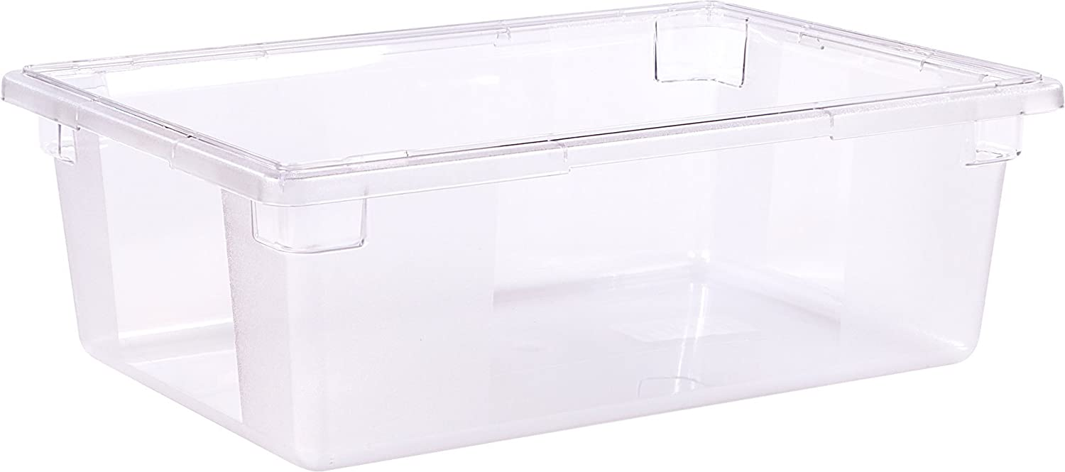 Carlisle 1062207 StorPlus Stackable Food Storage Container, 12.5 Gallon, Clear (Pack of 4)