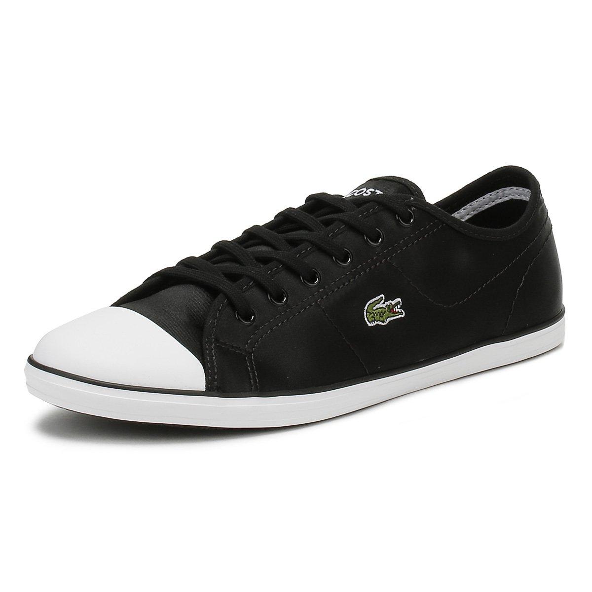 Lacoste Womens Black/White Ziane 118 2 Sneakers-UK 5