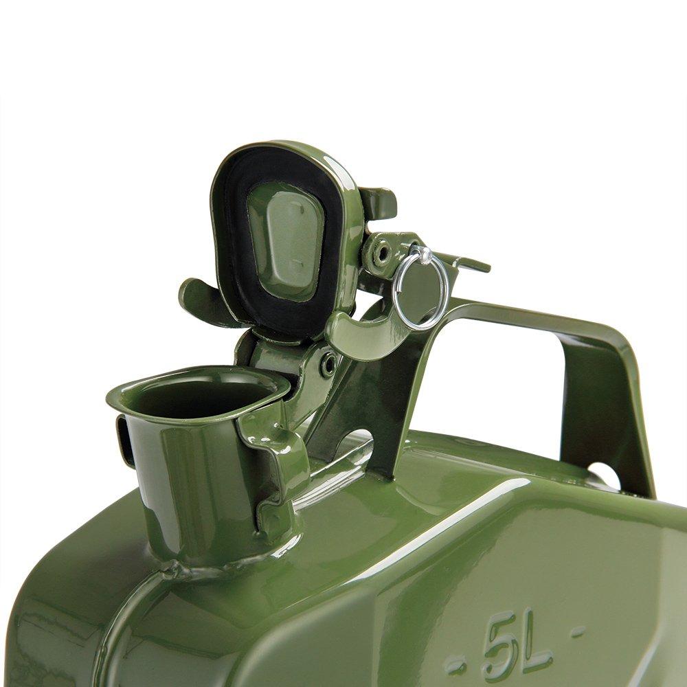 Monzana Tanica per benzina 3pz 5 L con Versatore staffa di sicurezza Certificazione-UN Metallo Diesel Carburante Bidone Contenitore