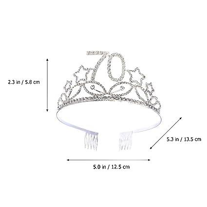 Corona con Peine de Diamante de Imitación para 70 Años ...