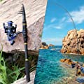 TROUTBOY Black Warrior Fishing Rod - 24 Ton Carbon Fiber Ultra Light Portable Telescopic Fishing Pole with CNC Machined Reel Seat, Stainless Steel Guides, EVA Fore Grip