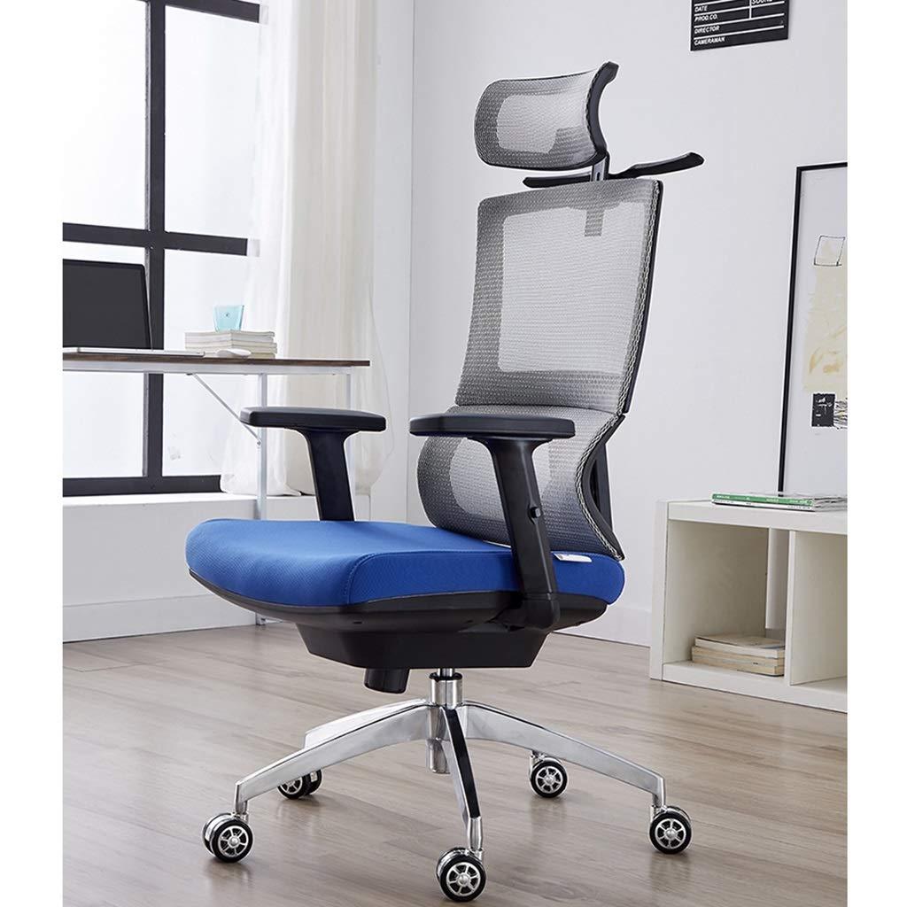 ZZHZY BBGS kontor svängbar stol, ländrygg stöd justerbar uppgift dator ergonomisk verkställande svängbar stol nätstol med lyftarmstöd (färg: Stil 2) stil 1