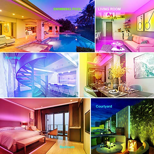 TOCLL Led Strip Lights 15M Music Sync Colour Changing Light Strip with 40-Keys IR Remote Controller Flexible 5050 RGB LEDs Light Strips Kit- Cuttable DIY Decoration- APP Controlled