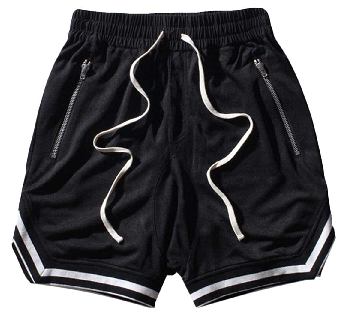 YYear Mens Zip Pockets Hip hop Patchwork Beach Shorts Boardshort Swim Trunk