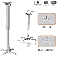 ULTIMA Invisible Cable Aluminium Universal Adjustable 3 feet Ceiling Projector Mount Kit