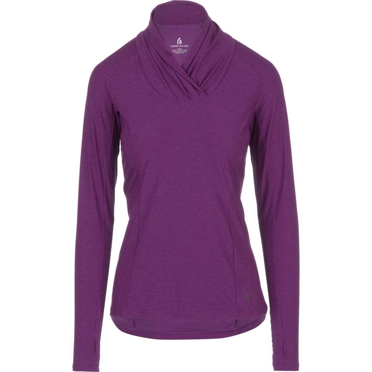 895a909b Amazon.com: Sierra Designs Long Sleeve Cowl Neck Top - Women's: Sports &  Outdoors