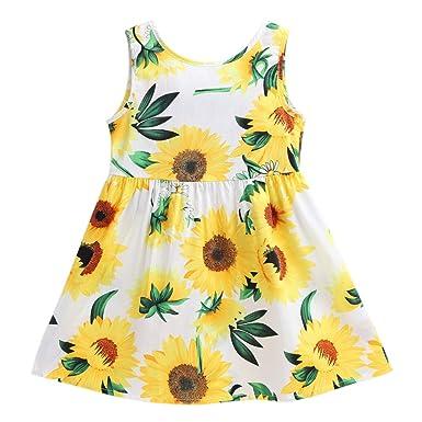 41b1c4f57 Amazon.com  Little Hand Flower Spring Summer Dress for Girls ...