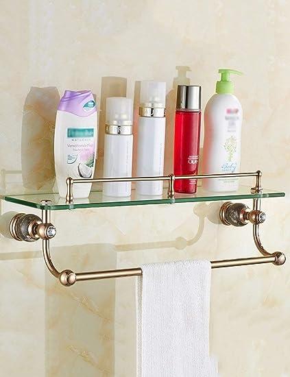 L.I. Toallas de baño para Ducha, con Estructura de Cristal, Muy Simple, Plataforma