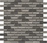 M S International Shale 12 In. X 10 mm Natural Basalt Mesh-Mounted Mosaic Floor & Wall Tile, (10 sq. ft., 10 pieces per case)