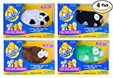 Zhu Zhu Hamster 4 Pack: Captain Zhu, Shamrock, Bamboo, Dezel. Zhu Zhu Pets Are Electronic Talking Motorized Plush Toys for Children. Great Child's Birthday or Christmas Gift for Any Kid, Boy or Girl.