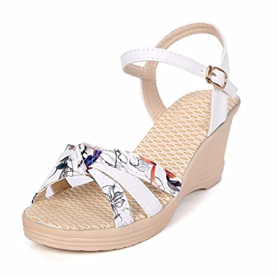 Shoes Sommer Vorne Offener Hang mit Wilden Farbe Casual Damen Sandalen